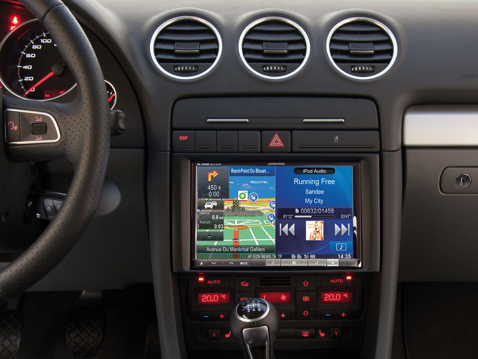 B7 s4 cabrio with alpine 8 navigation incl dis mfd for Mueble 2 din audi a3 8p