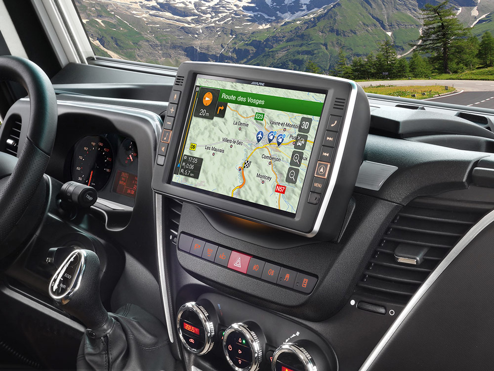 9 touch screen navigation for iveco daily compatible. Black Bedroom Furniture Sets. Home Design Ideas