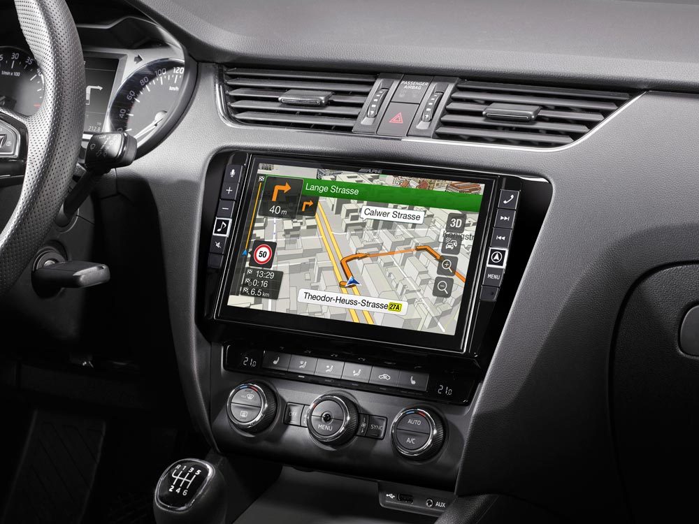 """9"""" Touch Screen Navigation for Skoda Octavia 3 with TomTom maps"""