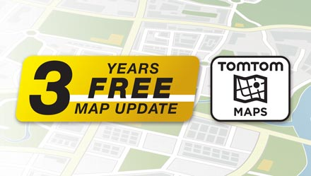 TomTom Maps with 3 Years Free-of-charge updates - INE-W720DC