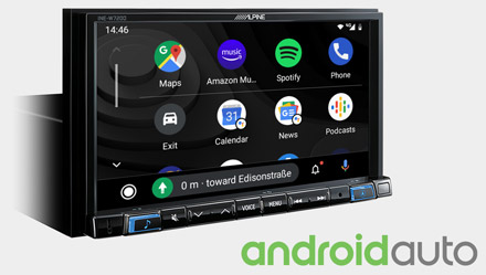 Works with Android Auto - INE-W720DC
