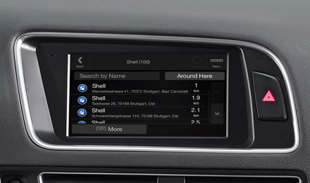 Golf 6 - Navigation - Points of Interest  - X702D-Q5