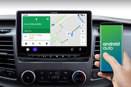 INE-F904TRA - Online Navigation with Android Auto