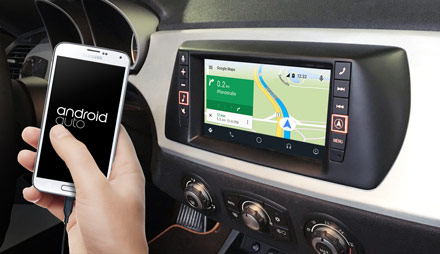 Online Navigation with Android Auto - X703D-F