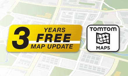 TomTom Maps with 3 Years Free-of-charge updates - X903D-OC3