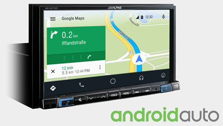 Online Navigation with Android Auto - INE-W710S453B